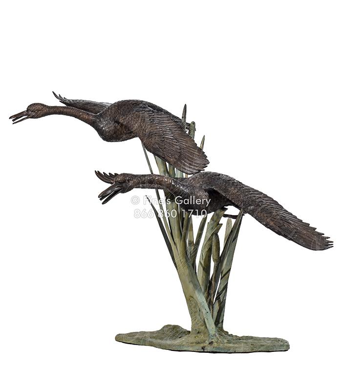 Low Flying Ducks in Bronze