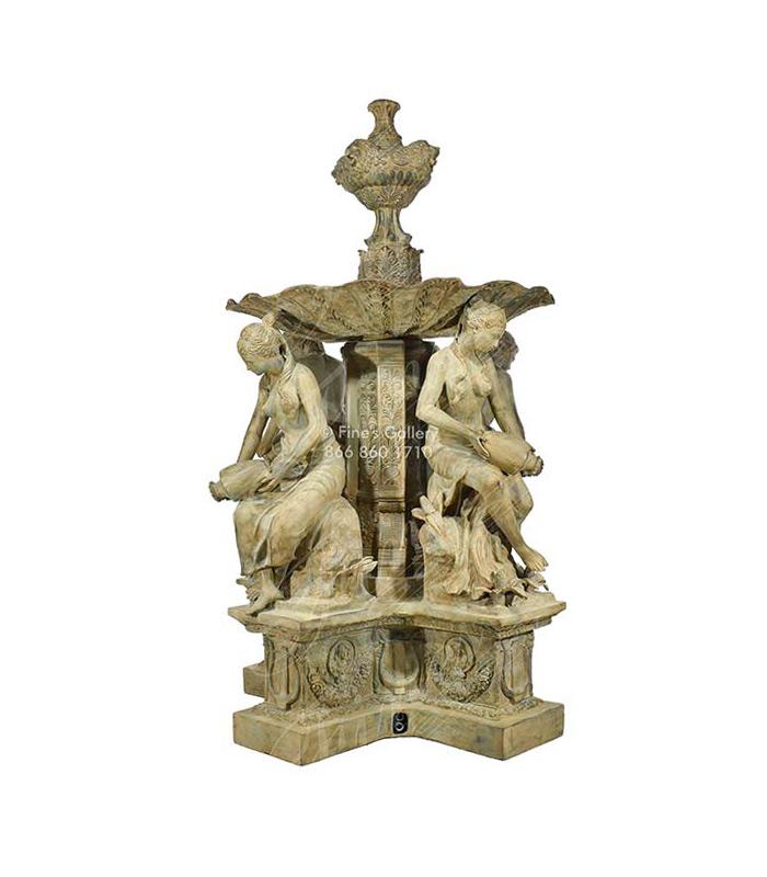 Four Greek Maidens Bronze Foun