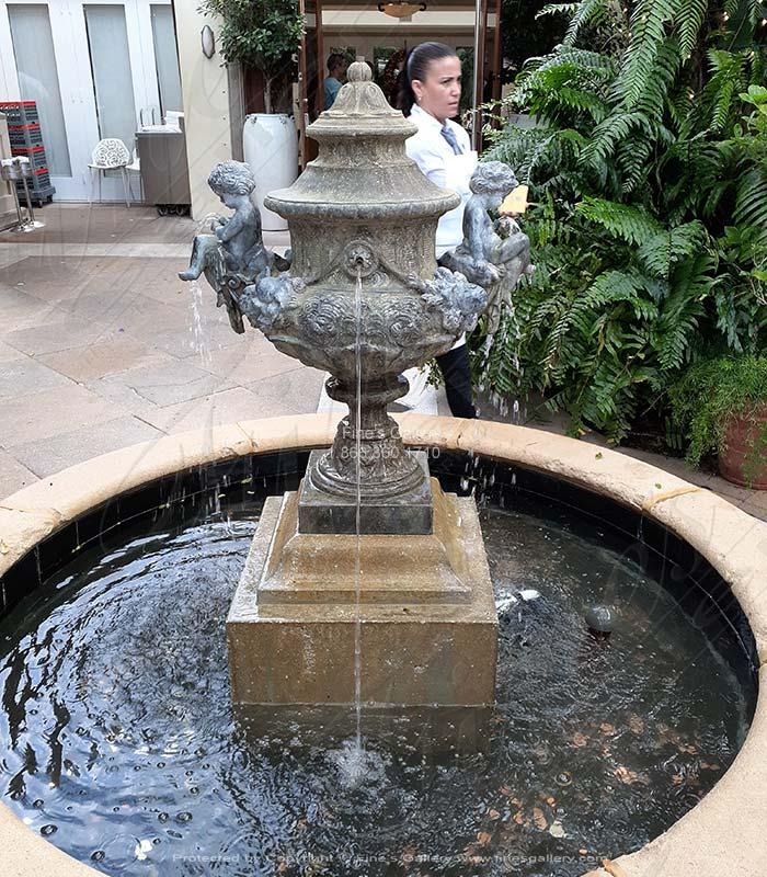 Italian Bronze Cherubs Fountain