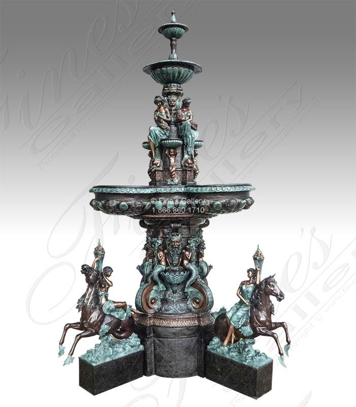 Bronze Fountains  - Elaborate Tiered Bronze Fountain - BF-851