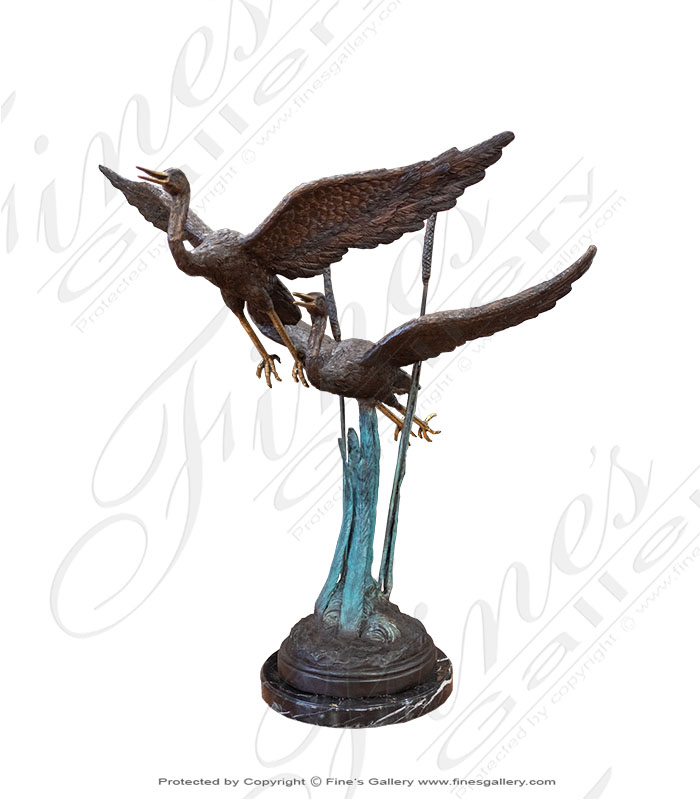 Birds in Flight Bronze Fountain