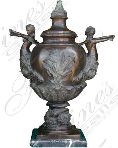 Bronze Planters  - Mystical Ocean Bronze Planter - BP-117