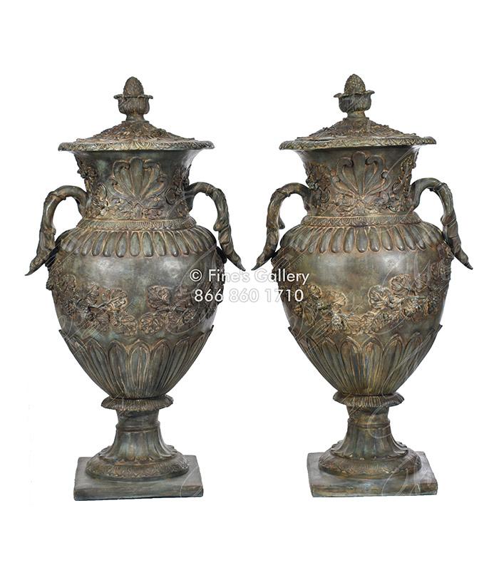 Flora Bronze Urns II