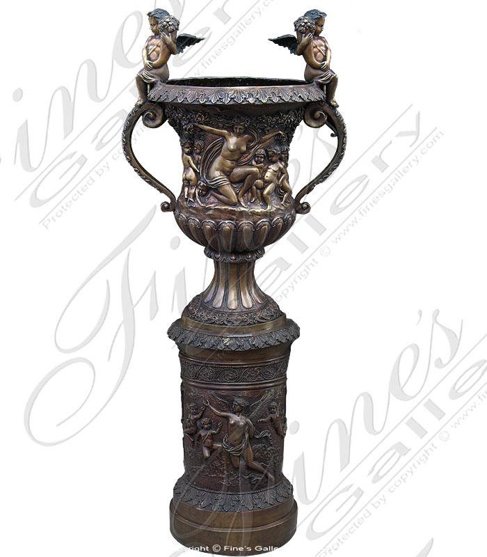 Bronze Planters  - Angel Planter - BP-121