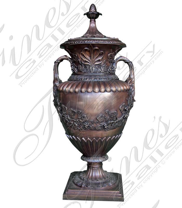 Bronze Planters  - Elegant Bronze Urn - BP-145