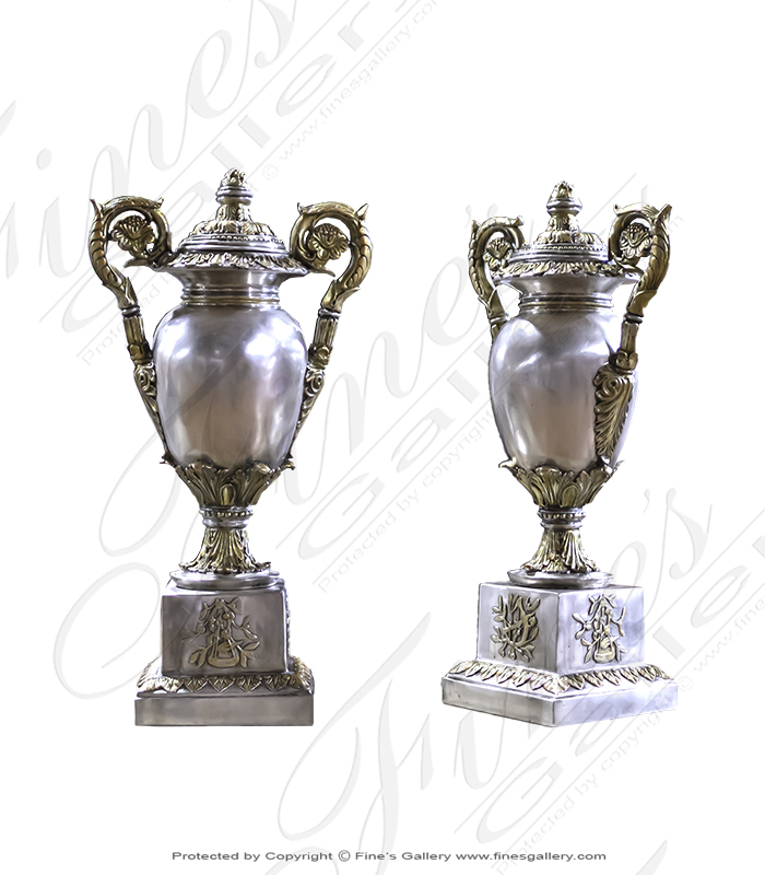 Bronze Planters  - Majestic Golden Urn - BP-148