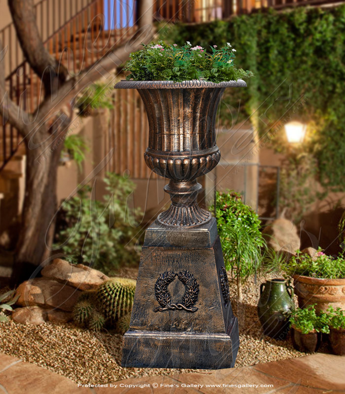 Bronze Planters  - Cast Iron Planter - BP-152