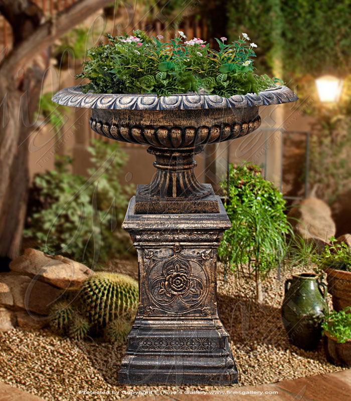 Bronze Planters  - Cast Iron Planter - BP-153