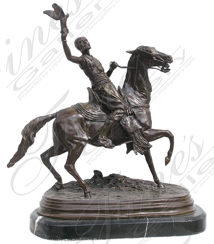 Bronze Statues  - Male On Horseback Bronze Statue - BS-1009