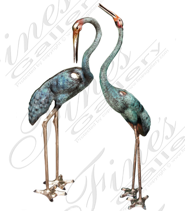 Search Result For Bronze Fountains  - Classic Bronze Egrets Fountain - BF-554