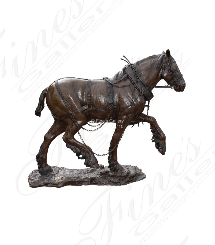 Bronze Carriage Horse Statue