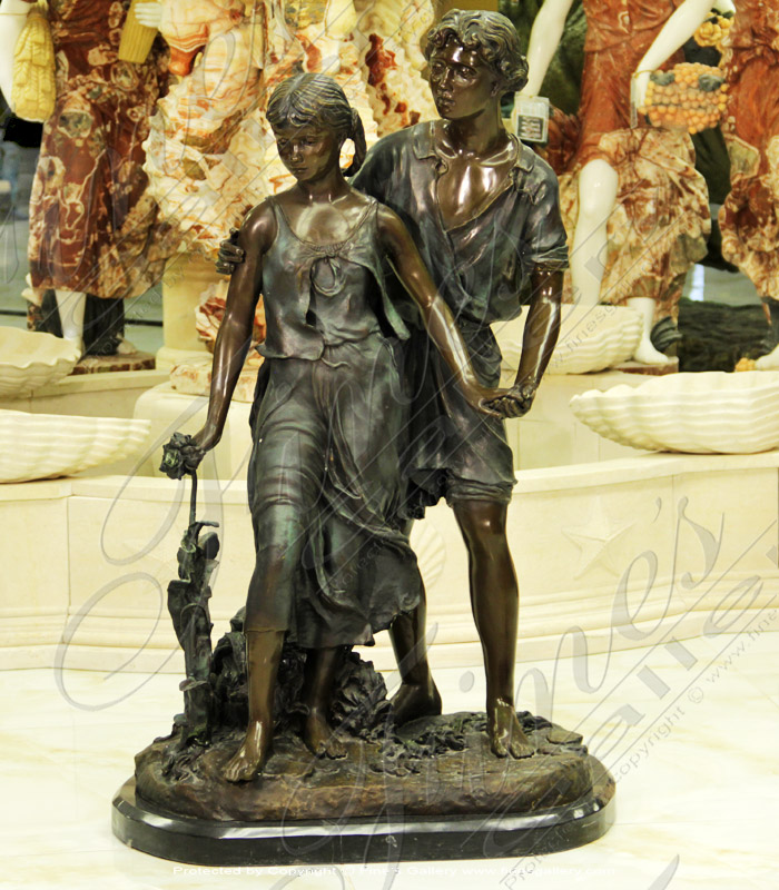 Bronze Statues  - The Bronze Lovers Statue - BS-115