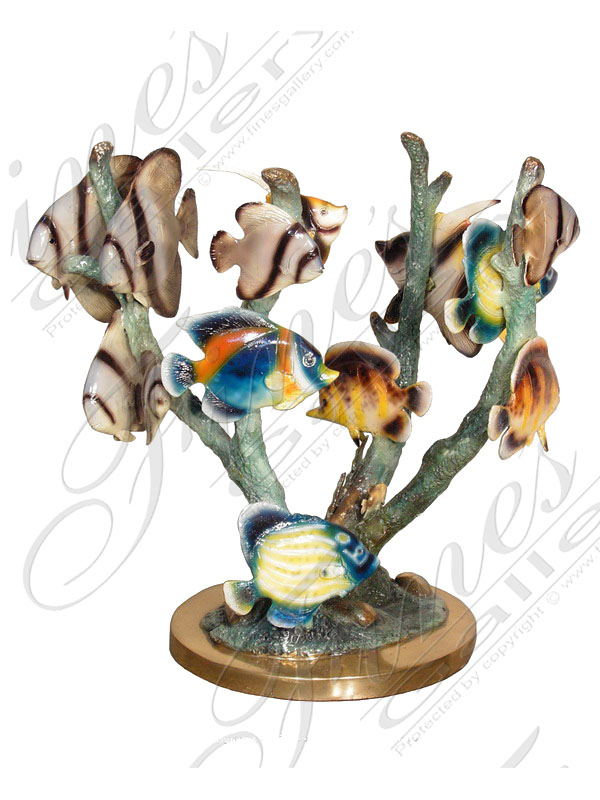 Bronze Statues  - Tropical Fish And Coral - BS-118