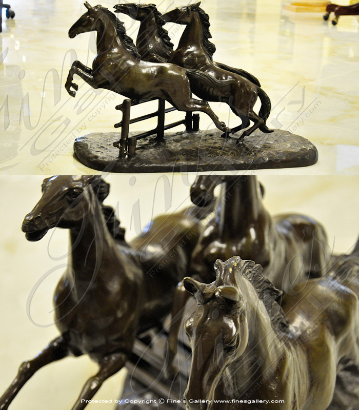 Bronze Statues  - The Yearling Bronze Horse Statue - BS-168