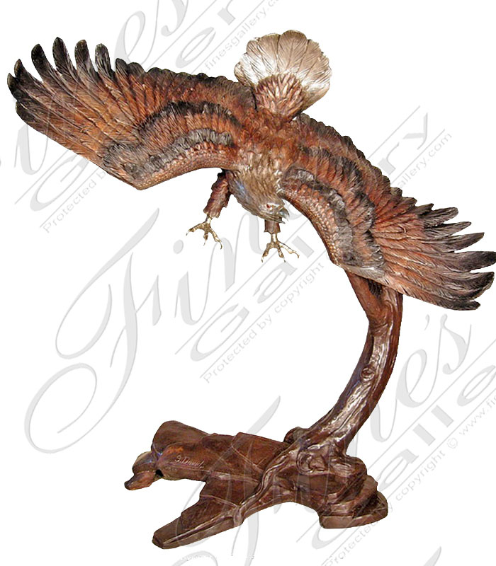 Bronze Statues  - Cast Iron Eagle Statue - BS-1347
