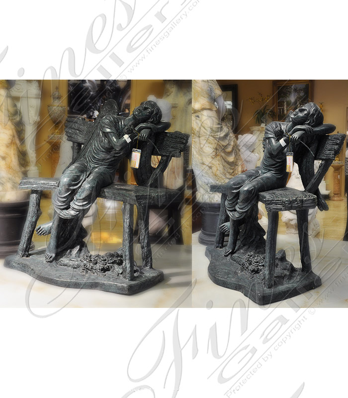 Bronze Statues  - Bronze Restful Angel Monument - BS-1301