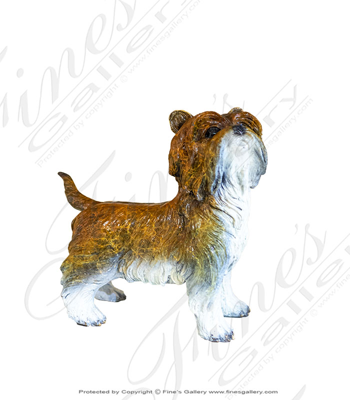 Yorkshire Terrier Dog Bronze Statue