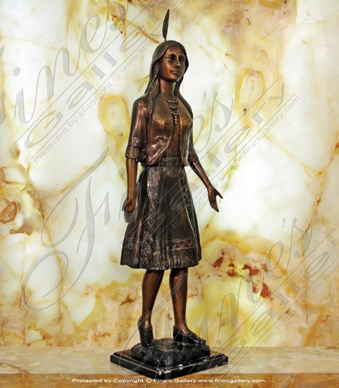 Pocahontas Bronze Statue.