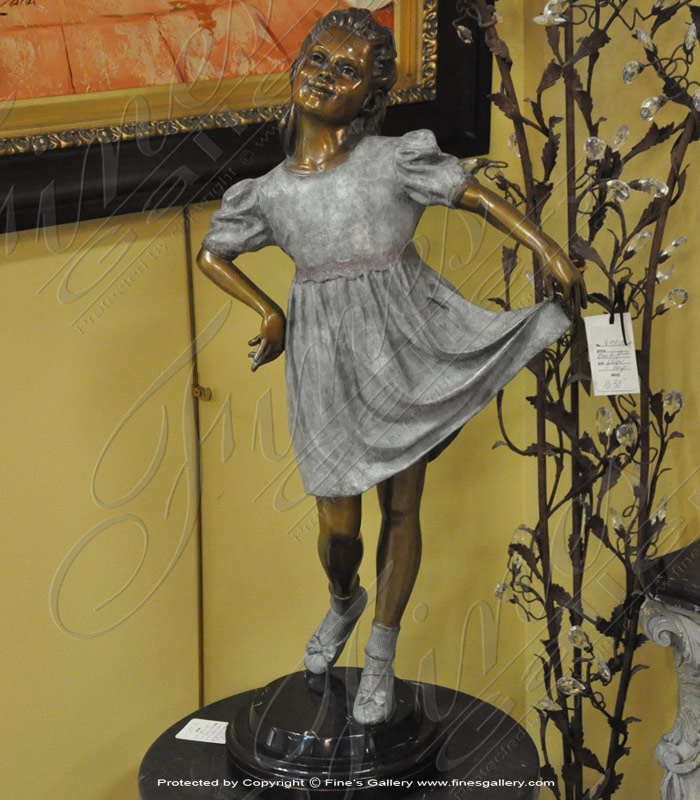 Bronze Statues  - Young Lady With A Dress Bronze Statue - BS-1344