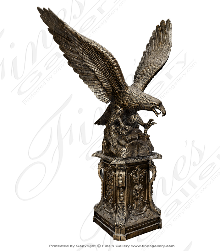 Cast Iron Eagle Statue