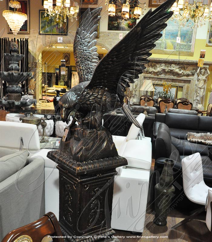 Bronze Statues  - Graceful Bronze Eagle - BS-1381