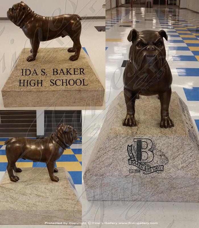 Bronze Statues  - Bronze Bulldog Statue - BS-1354