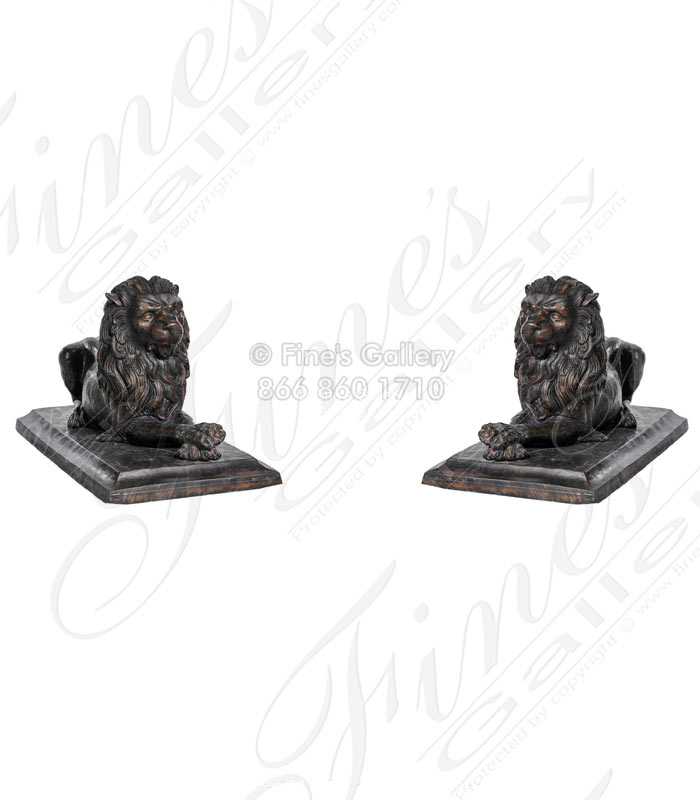 Bronze Statues  - Lions Of Manyara - BS-180