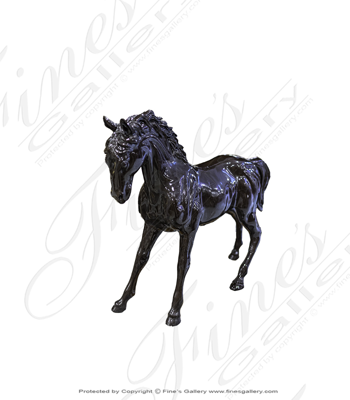 Bronze Statues  - Bronze Running Horse Sculpture - BS-1388