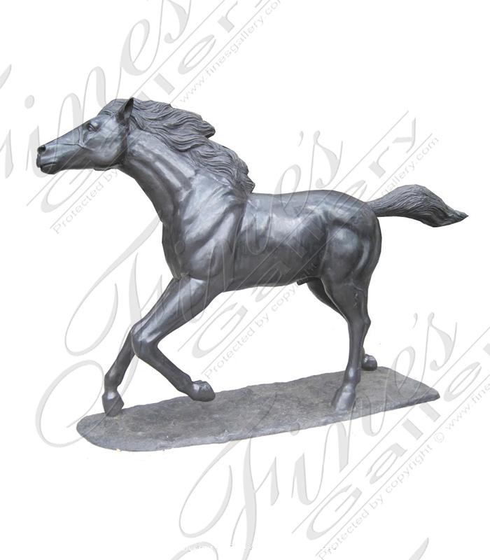 Search Result For Bronze Statues  - Bronze Stallion Statue - BS-791