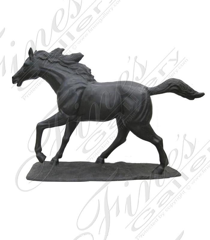 Bronze Statues  - Bronze Running Horse Statue - BS-1390