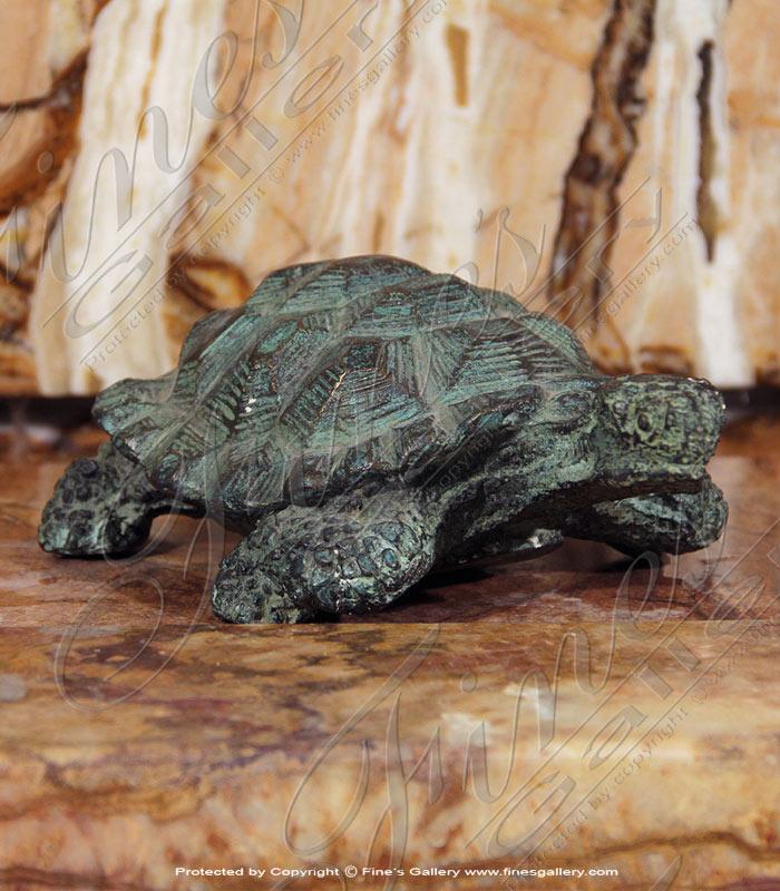 Bronze Statues  - Bronze Turtle Sculpture - BS-1394