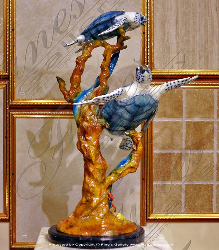 Bronze Statues  - Bronze Sea Turtles Sculpture - BS-1399