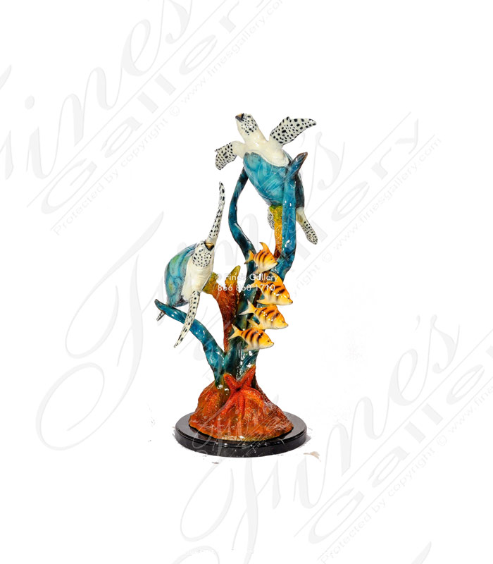 Bronze Fountains  - Bronze Dolphins - BF-760