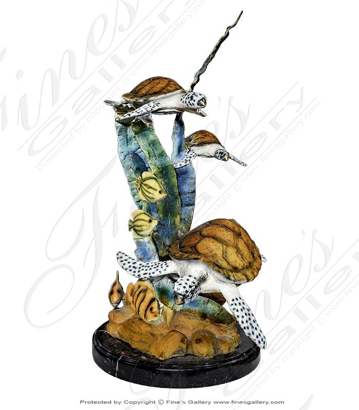 Bronze Statues  - Bronze Sea Creatures Sculpture - BS-1403