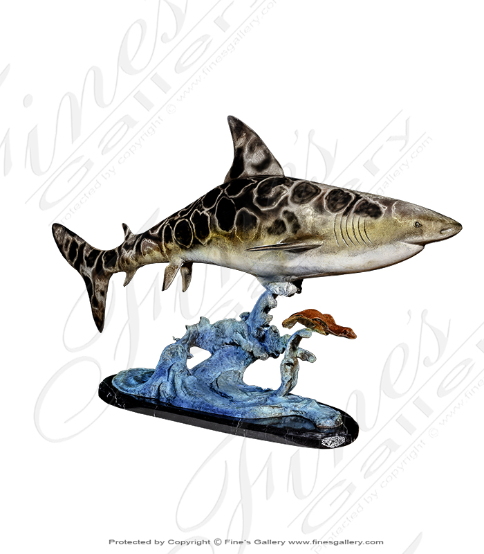 Great White Shark Bronze Statue