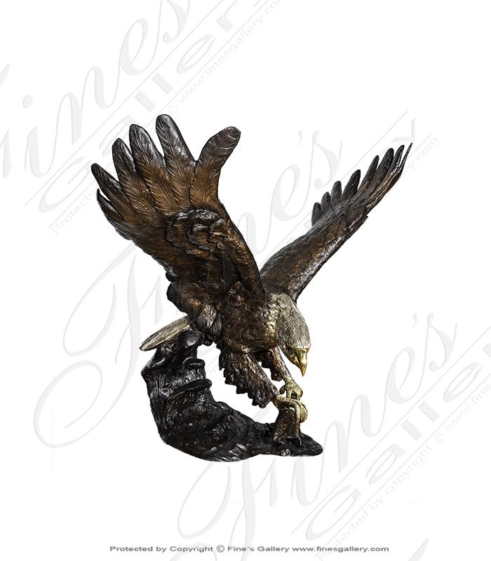 Bronze Statues  - Eagle Landing - BS-1442