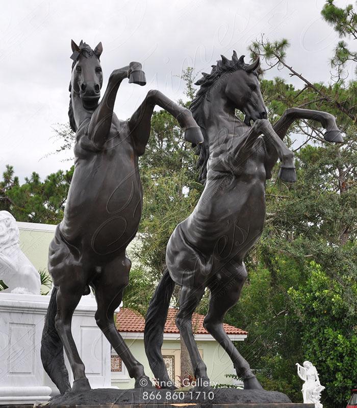 19th Century Rearing Horses