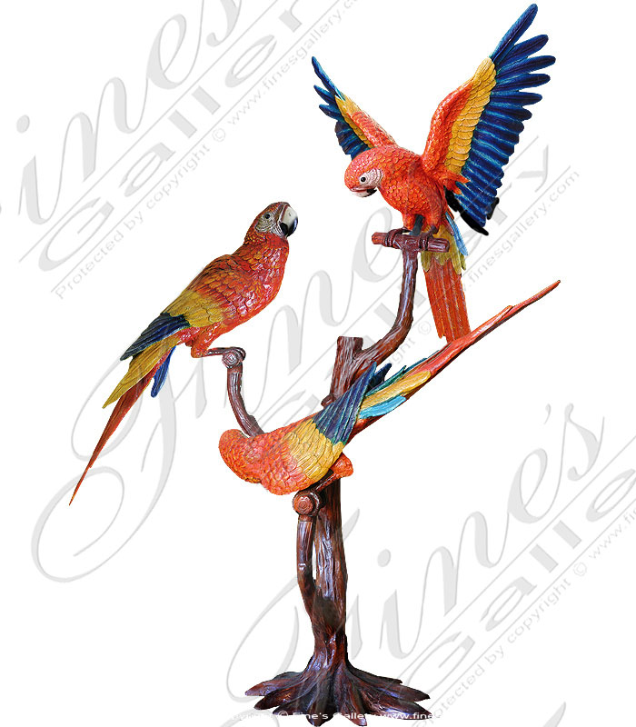 Bronze Statues  - Scarlet Macaws - BS-145
