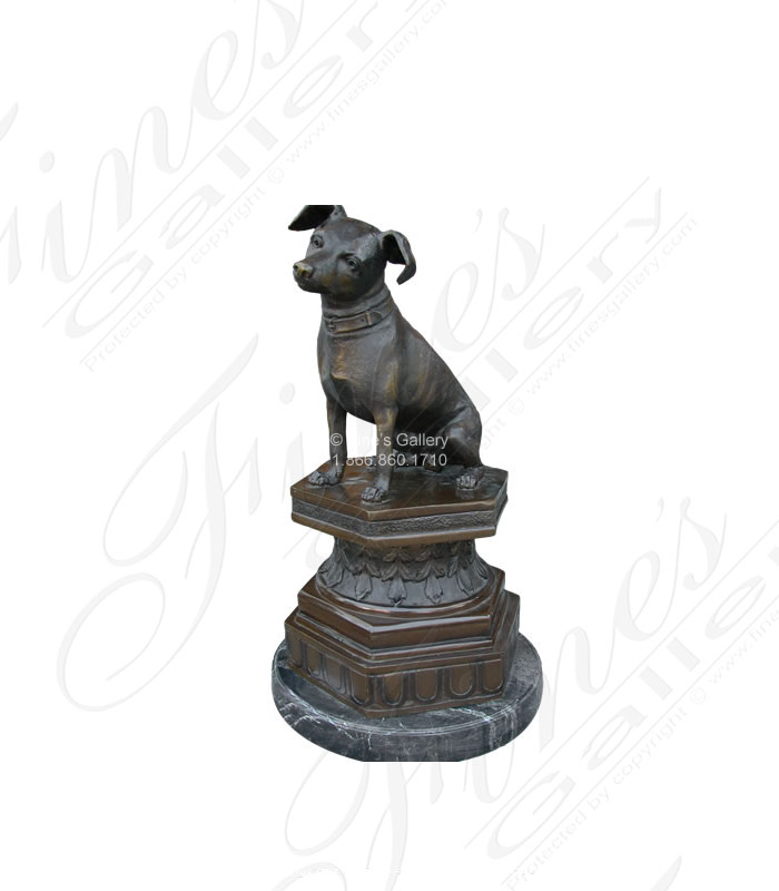Bronze Statues  - Toy Fox Terrier Bronze Statue - BS-149