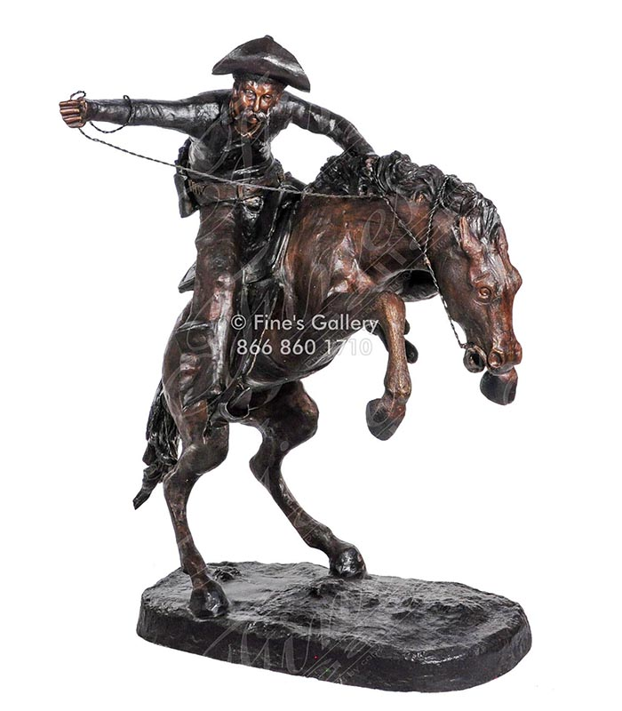Bronze Bronco Buster Statue