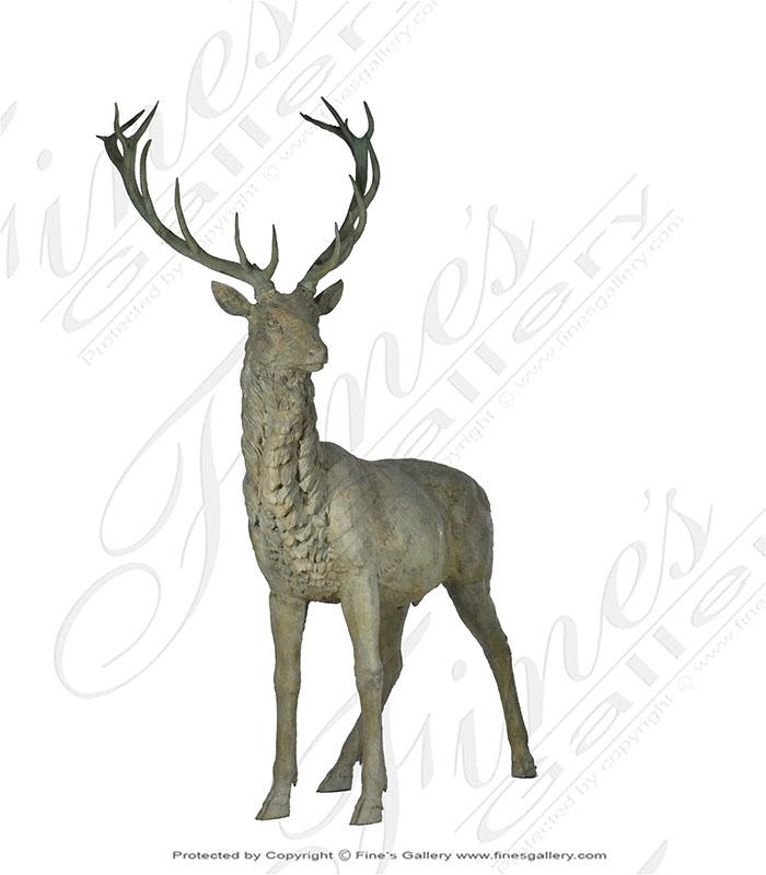 Life Size Bronze Deer Buck Statue