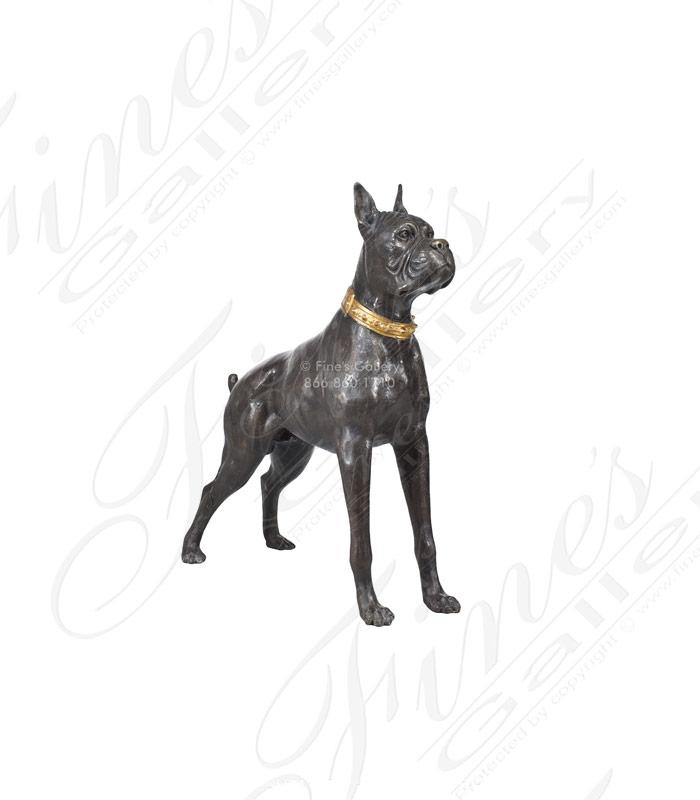 Bronze Statue of Boxer Dog