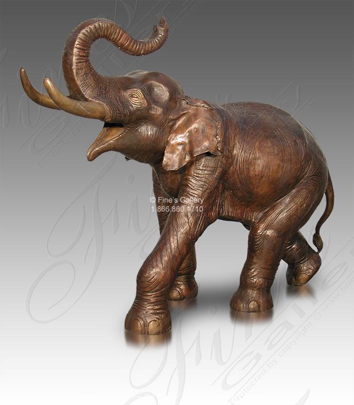 Bronze Statues  - Bronze Elephant Statue - BS-1533