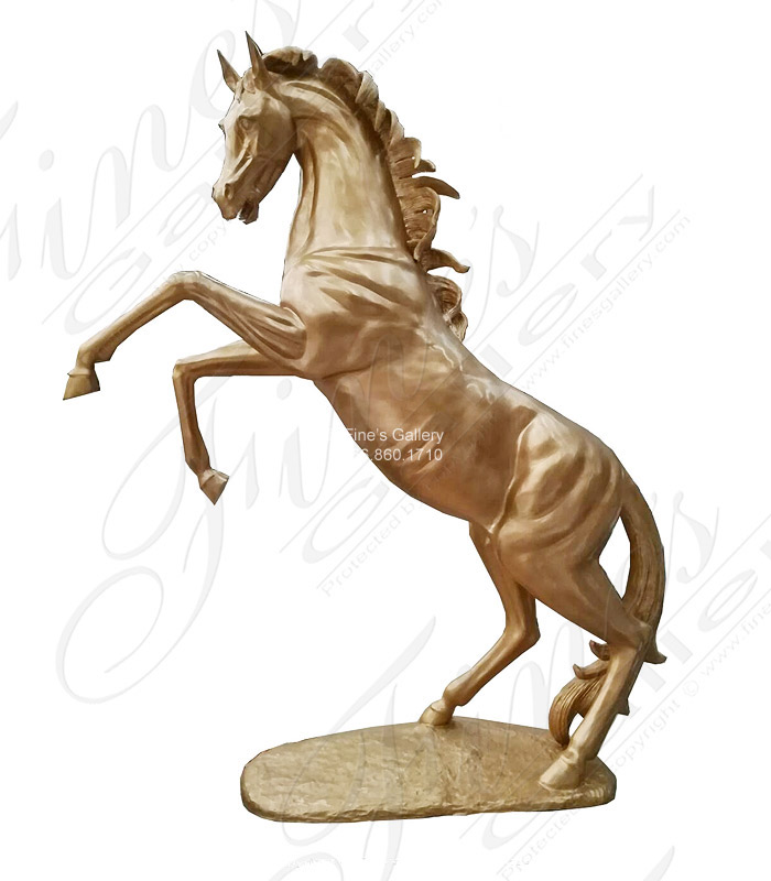 Bronze Statues  - Oversized Rearing Bronze Stallion - BS-1536