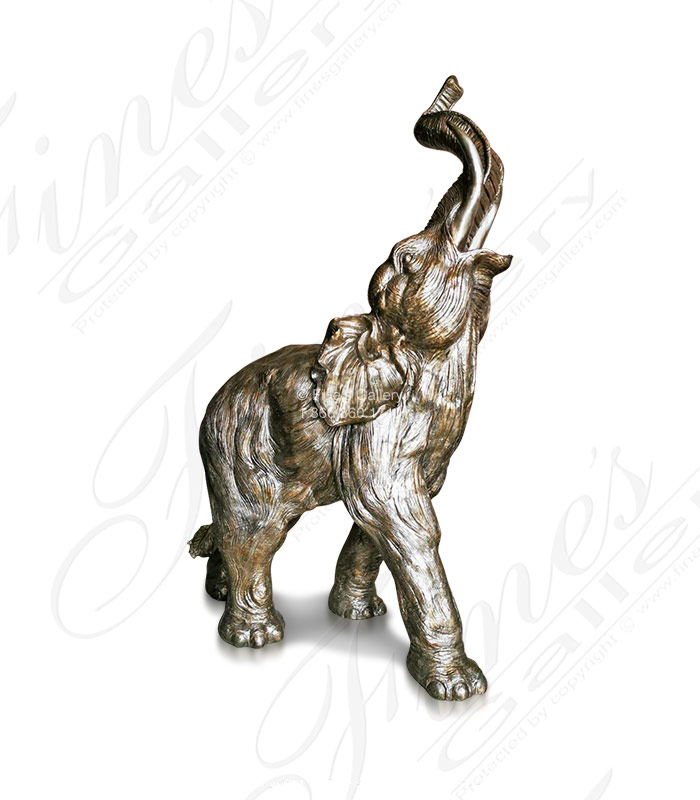 Bronze Statues  - Enchanted Bronze Elephant Statue - BS-1560