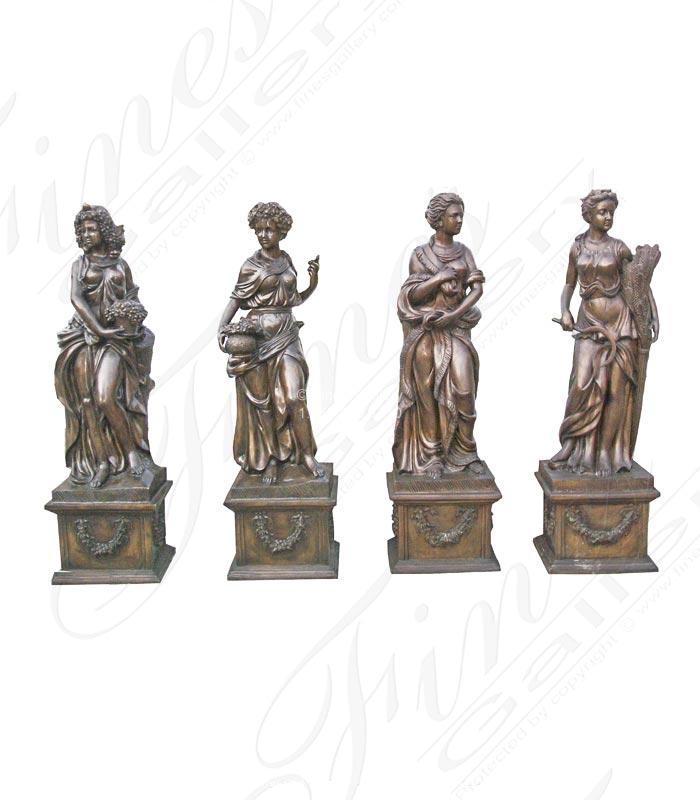 Four Seasons Set in Classic Bronze