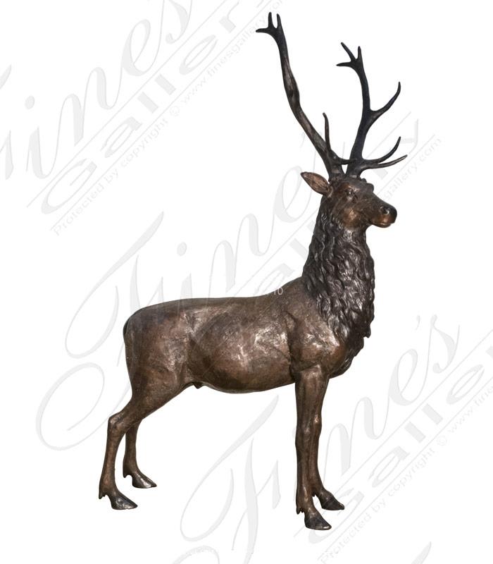 Bronze Statues  - 86 Inch Tall Bronze Elk Statue - BS-1635