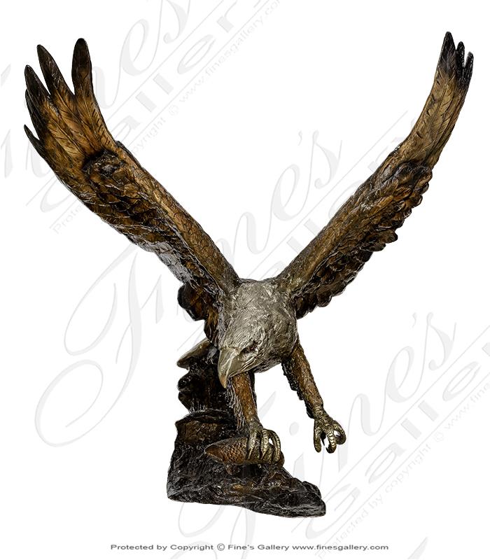 Life Size Bronze Eagle with Brilliant Finish