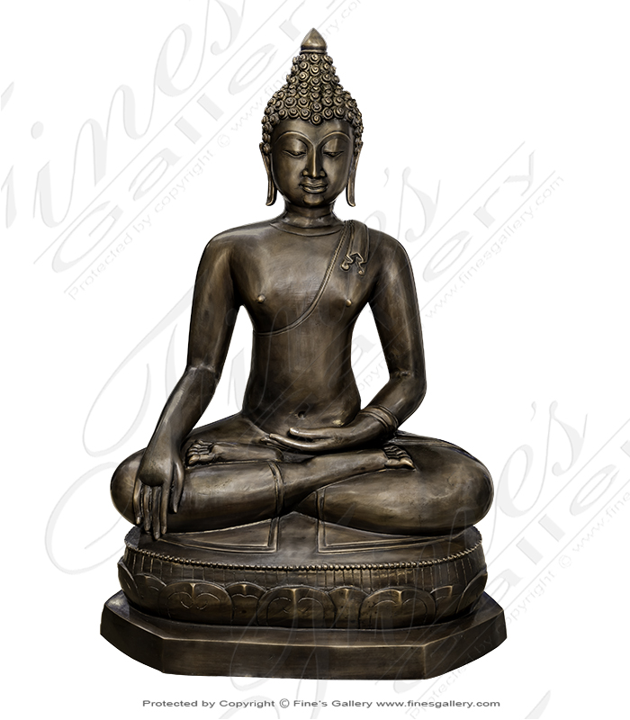 30 Inch Bronze Buddha