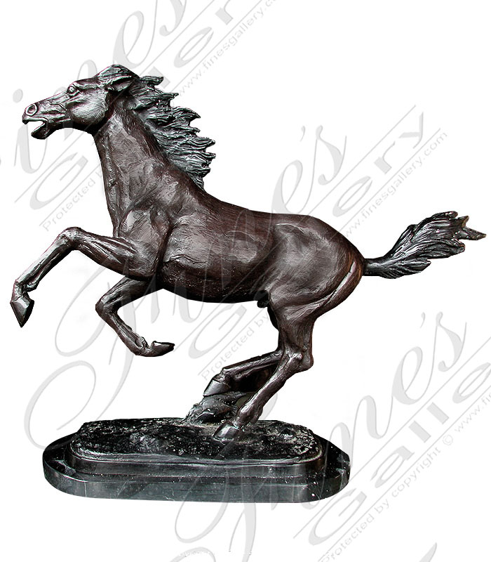 Bronze Statues  - Three Horses Bronze Statue - BS-119